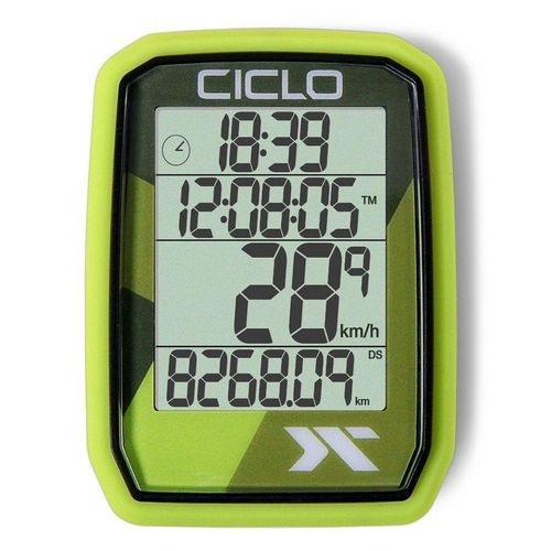 Ciclosport Fahrradcomputer »Protos 105 Kabel Tacho ohne Tasten Fahrradtacho 4 Zeilen Display«, grün