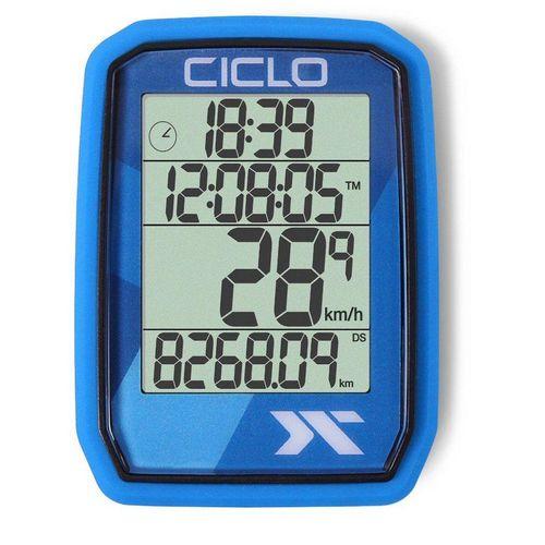 Ciclosport Fahrradcomputer »Protos 105 Kabel Tacho ohne Tasten Fahrradtacho 4 Zeilen Display«, blau