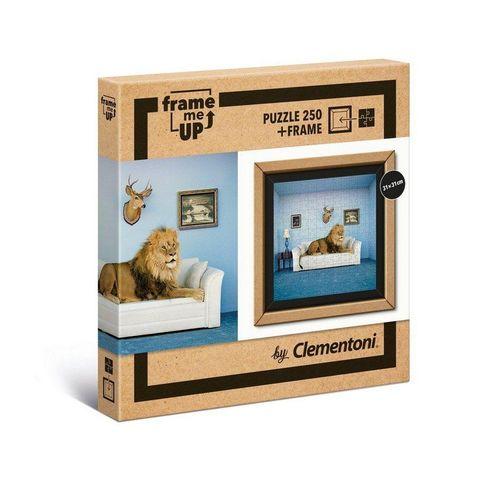 Clementoni® Puzzle »38500 Frame me up Löwe 250 Teile Puzzle + Rahmen«, 250 Puzzleteile, Mit Rahmen, bunt