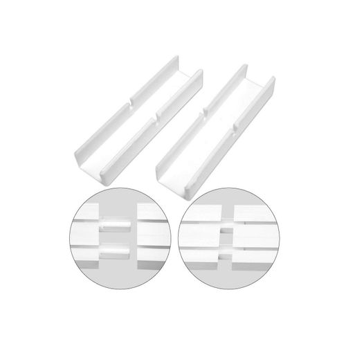 Gardinenstange, Bestlivings, 1-läufig, Verbinder für Kunststoff Gardinenschienen, Schienenverbinder