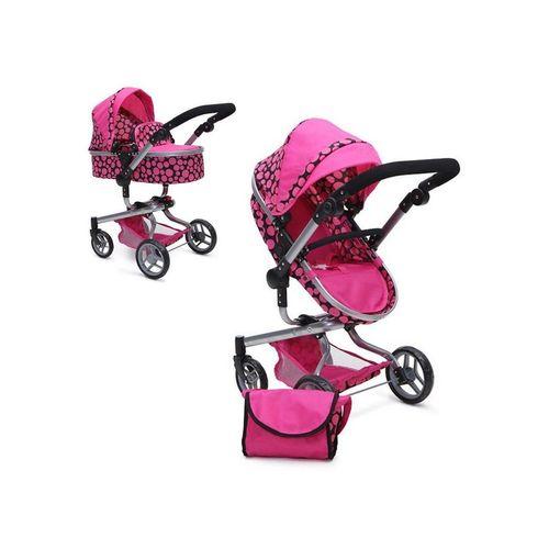 Moni Kombi-Puppenwagen »Puppenwagen Bella 9695«, Puppenkorb Sonnendach und Schiebegriff verstellbar Tasche