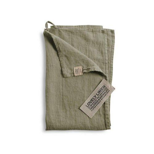 Lovely Linen Handtuch »Geschirrhandtuch aus Leinen 45 x 70 cm«, grün