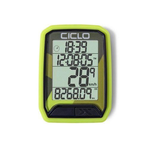 Ciclosport Fahrradcomputer »Protos 113 Kabel Fahrradtacho 4 Zeilen Display«, grün