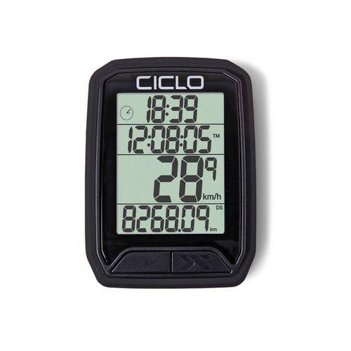 Ciclosport Fahrradcomputer »Protos 113 Kabel Fahrradtacho 4 Zeilen Display«, schwarz