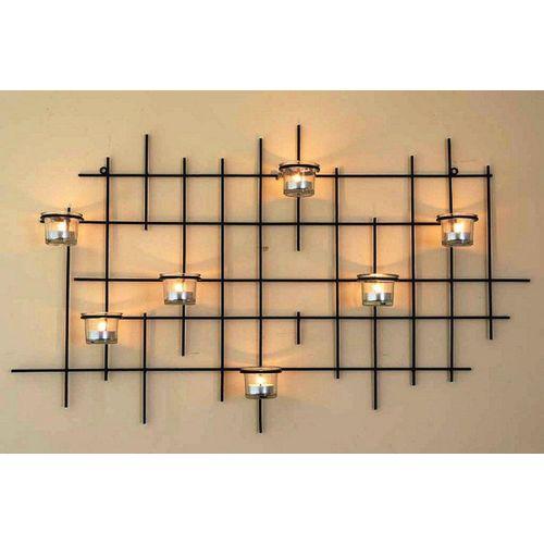 DanDiBo Teelichthalter »Wandteelichthalter 7XXL Wandkerzenhalter Metall 83 cm Teelichthalter Kerzenhalter«