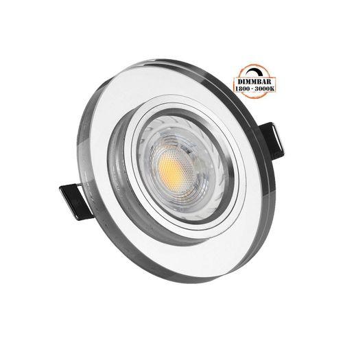 LEDANDO LED Einbaustrahler »LED Einbaustrahler Set GU10 in Glas / Kristall mit 5