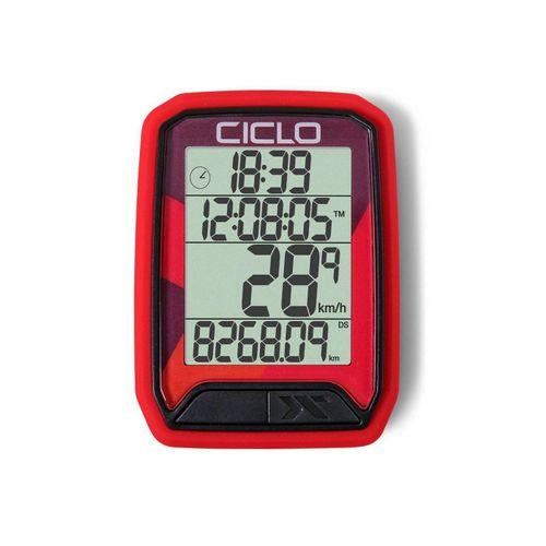 Ciclosport Fahrradcomputer »Protos 113 Kabel Fahrradtacho 4 Zeilen Display«, rot