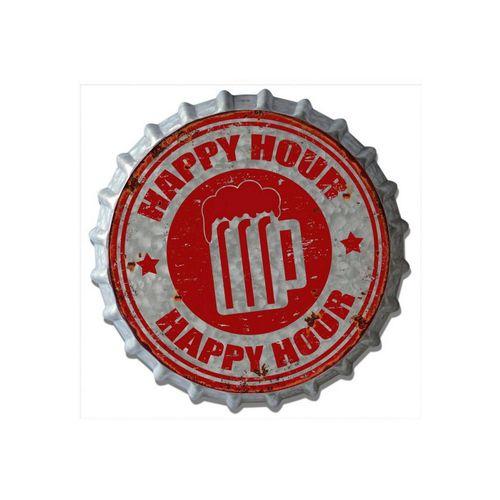 HTI-Line Metallschild »Blechschild Happy«, Blechschild
