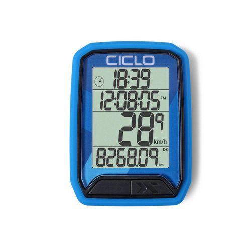 Ciclosport Fahrradcomputer »Protos 113 Kabel Fahrradtacho 4 Zeilen Display«, blau