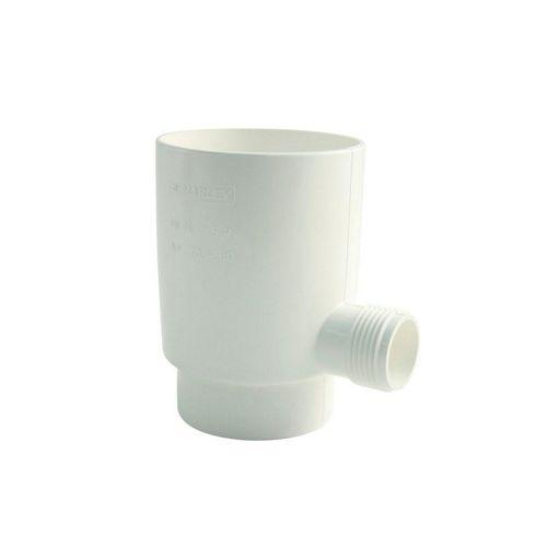 Marley Deutschland GmbH Regenrinne »Marley Regensammler für Fallrohr mit Überlaufstop DN 75mm Regenrohr Regenwasser Fallrohrfilter weiß«, 1-St., Hoher Wirkungsgrad >95%