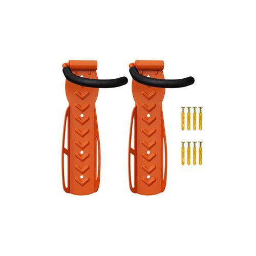 Wellgro Fahrradhalter »2 x Wand Fahrradhalter - Stahl Fahrrad Wandhalterung - Fahrrad haken - Fahrradständer - Ständer - Wandfahrradhalter«, orange