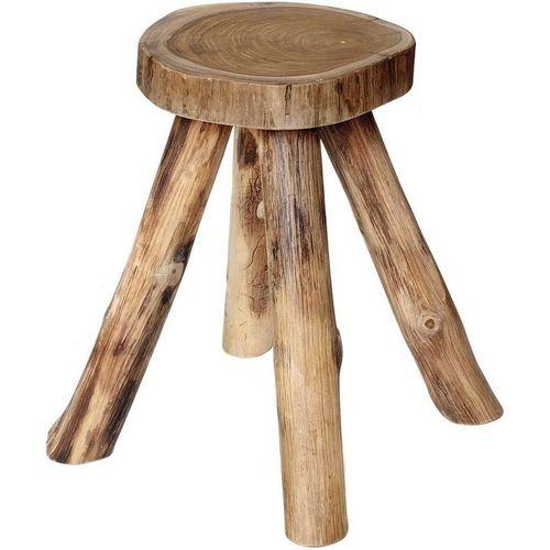 Brillibrum Hocker »Sitzhocker Beistelltisch Teakholz Holz massiv Couchtisch Nachttisch Wurzelholz Tisch«