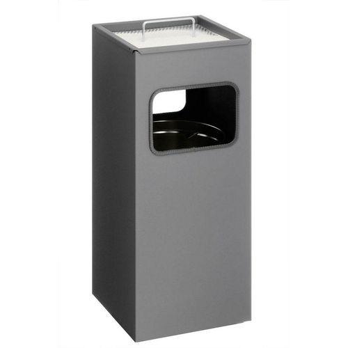 DURABLE Papierkorb »Durable Papierkorb Metall mit Ascher eckig 333158«