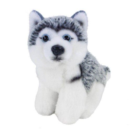 Teddys Rothenburg Kuscheltier (Hund Husky sitzend 12 cm, Plüschhunde, Plüschtier, Plüschhusky, Stofftier, Stoffhund, Huskys)