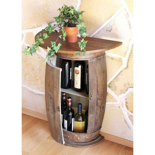 DanDiBo Weinregal »Wandtisch Tisch Weinfass 0373-R Braun Schrank Weinregal Fass 73 cm Beistelltisch