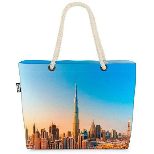 VOID Strandtasche (1-tlg), Dubai Arabische Emirate Dubai Arabische Emirate Stadt Skyline Urlaub, bunt