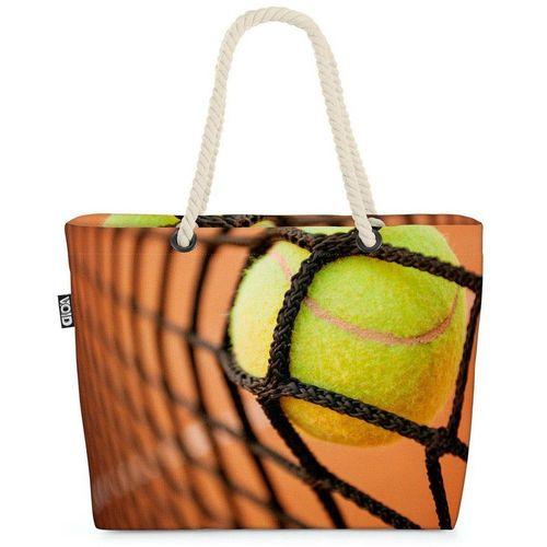 VOID Strandtasche (1-tlg), Tennis Tennisball Netz Tennis Tennisball Netz DTB Lernen Spielen Spor