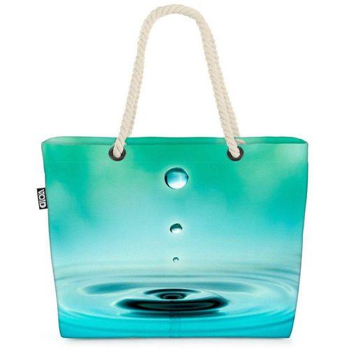VOID Strandtasche (1-tlg), Wasser Wellen Teich Wasser Wellen Teich Tropfen Entspannung Wellness