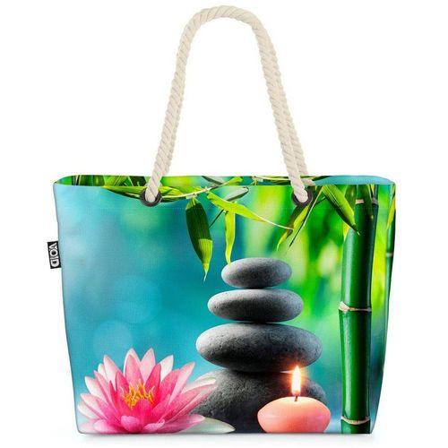 VOID Strandtasche (1-tlg), Spa Entspannung Therapie Spa Entspannung Therapie Wasser Lotus Sauna