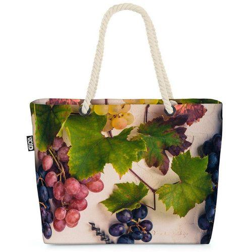 VOID Strandtasche (1-tlg), Weintrauben Trauben Wein Weintrauben Trauben Wein Trinken Weinanbau K