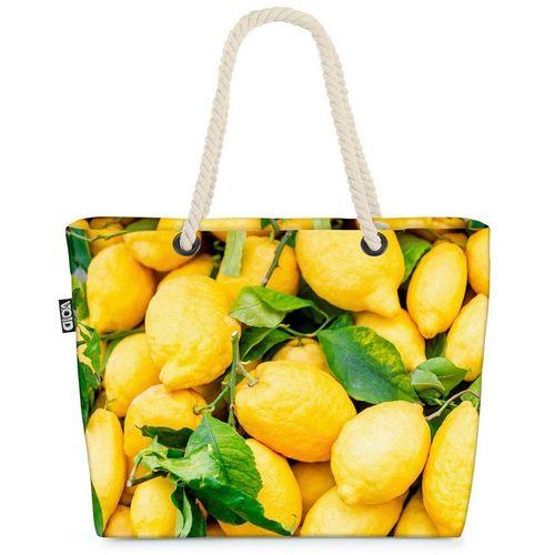 VOID Strandtasche (1-tlg), Zitronen Obst Italien Zitronen Obst Italien Zitrusfrüchte Frucht Urla