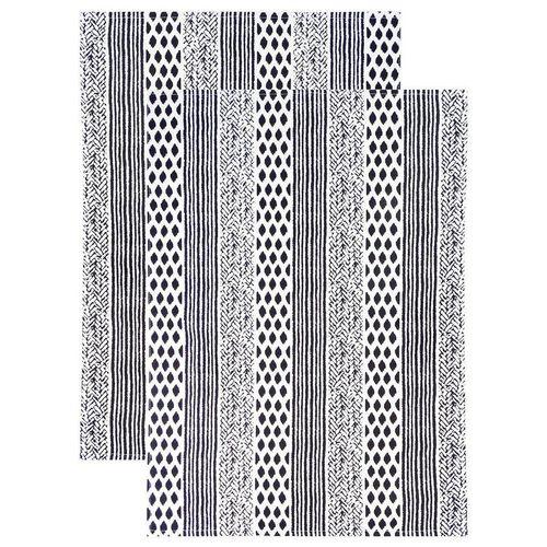 Lashuma Geschirrtuch »Geometric«, (Set, 2-tlg), Küchentücher Baumwolle, Geschirrhandtücher 48x68 cm