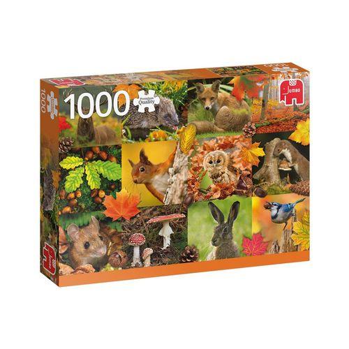 Jumbo Spiele Puzzle »JUMBO 18863 Tiere im Herbst 1000 Teile Puzzle«, 1000 Puzzleteile