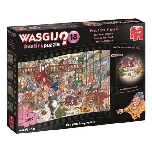 Jumbo Spiele Puzzle »19157 Wasgij Destiny 18 Fast Food Rausch«, 1000 Puzzleteile, bunt