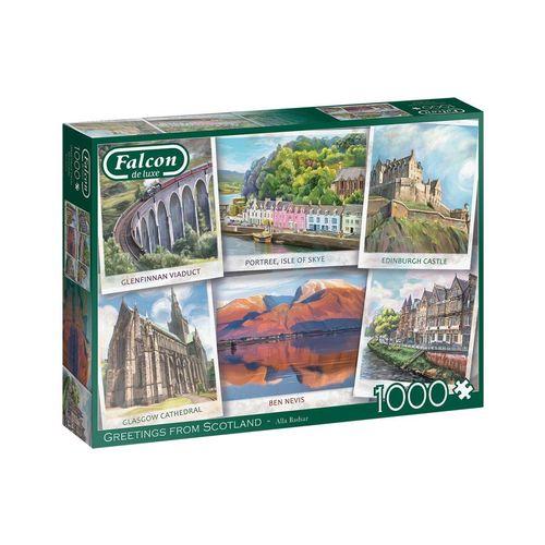 Falcon Puzzle »11325 Alla Badsar Grüße aus Schottland«, 1000 Puzzleteile