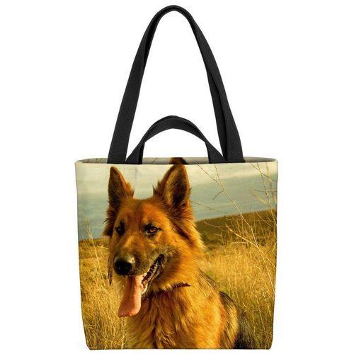 VOID Henkeltasche (1-tlg), Deutscher Schäferhund Rex Schäferhund Jagdhund Welpe Hund Haustier Tier