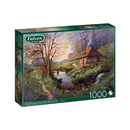 Falcon Puzzle »11243 Finlay Häuschen im Wald«, 1000 Puzzleteile, bunt