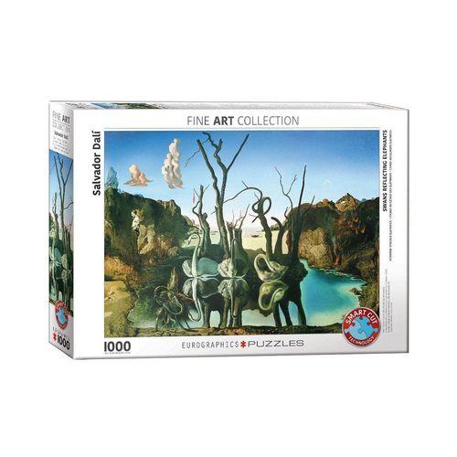 EUROGRAPHICS Puzzle »Schwäne spiegeln Elefanten von Dalí 1000 Teile