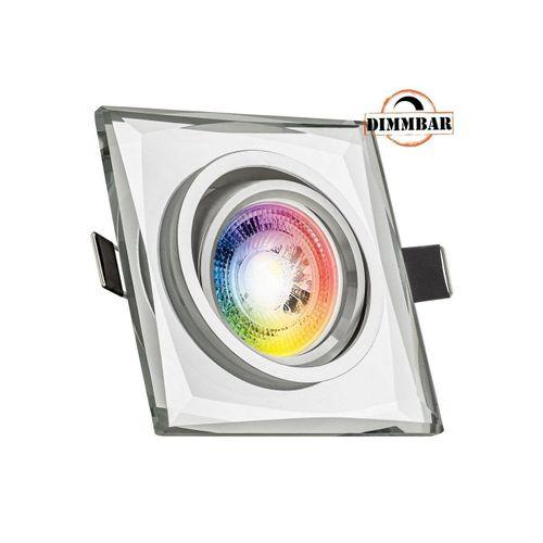 LEDANDO LED Einbaustrahler »RGB LED Einbaustrahler Set GU10 in Glas / Kristall mit 3W LED von LEDANDO