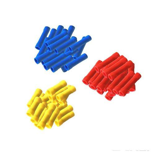 Verbinder »ARLI Stossverbinder isoliert 0,5 - 1,5 mm² 40 x rot 50 x blau 10 x gelb (100 Stück)«, ARLI
