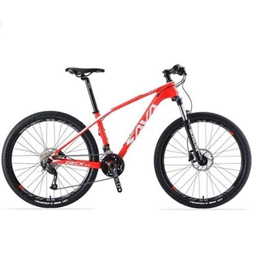 SAVA Mountainbike »SAVA DECK2.0 Carbon Mountainbike MTB SHIMANO ALTUS M2000«, 27 Gang, rot