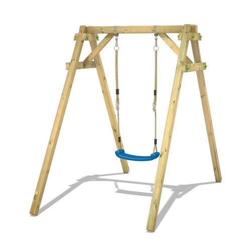 Wickey Einzelschaukel »Schaukelgestell Smart One - Schaukel, Schaukelgerüst, Kinderschaukel, Holzschaukel«, blau