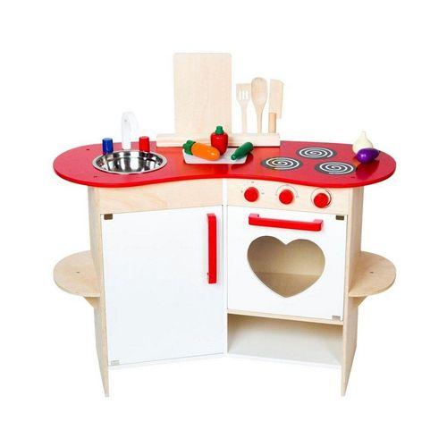 Warenhandel König Spielküche »Kinder-Spielküche mit Herz«, Holz