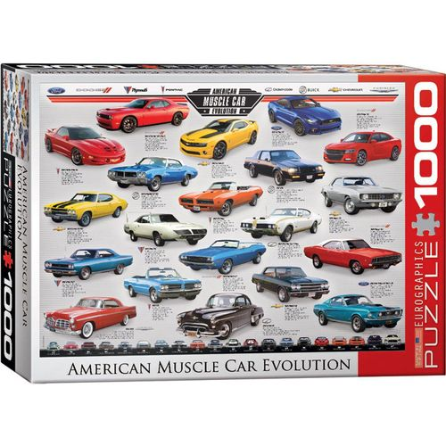 empireposter Puzzle »American Muscle Car Evolution - 1000 Teile Puzzle im Format 68x48 cm«, Puzzleteile