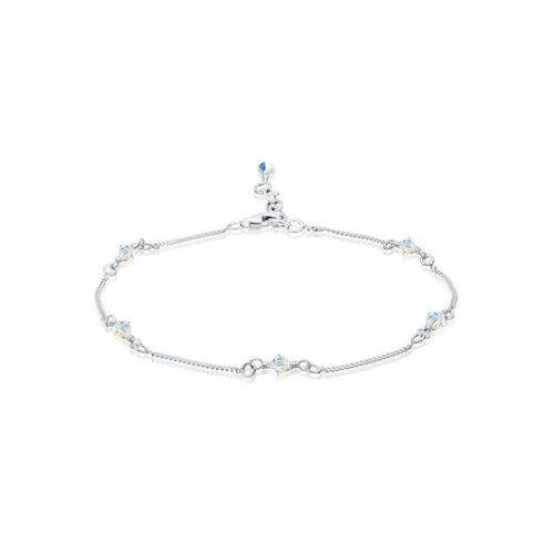 Elli Fußkette »Basic Strand Bead Kristalle 925 Silber