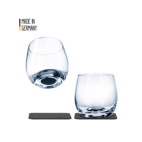 SILWY Gläser-Set »SILWY Kristallgläser 2er-Set 2 Metall-Nano-Gel-Pads Whisky Gläser Anti-Rutsch