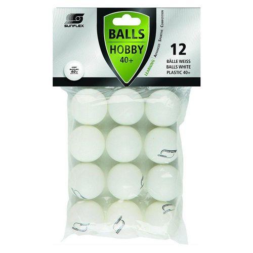 Sunflex Tischtennisball »12 x Tischtennisbälle 40+ Hobby weiß«