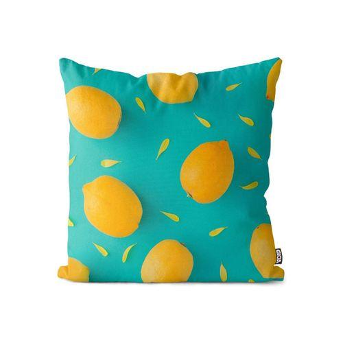 Kissenbezug, VOID (1 Stück), Zitronenmuster Kissenbezug Früchte Frucht Essen Kochen Küche Obst Gesund Sauer
