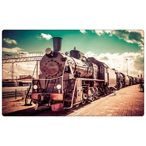 DesFoli Wandtattoo »Fotografie Eisenbahn Lok Vintage R1771