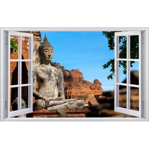 DesFoli Wandtattoo »Buddha Buddhismus Religion F0774