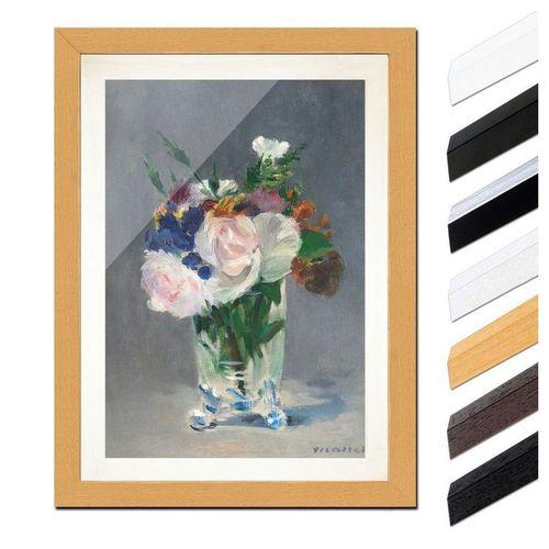 Bilderdepot24 Wandbild, Blumen in einer Kristallvase