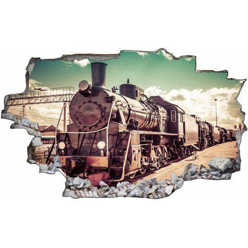 DesFoli Wandtattoo »Fotografie Eisenbahn Lok Vintage C1771