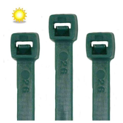 RheVeTec RheFLEX Kabelbinder »Kabelbinder UV Solar 100 Stück, Grün« UV stabilisiert