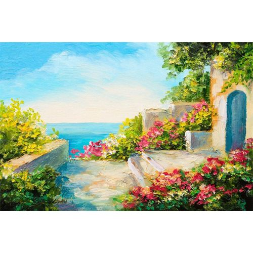 DesFoli Poster »Gemälde Küste Mediteran Art P1603«