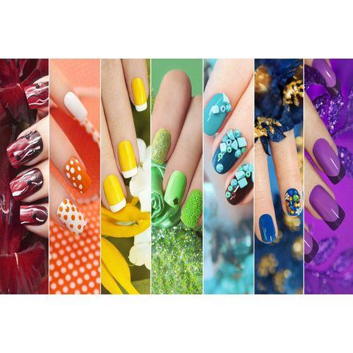 DesFoli Poster »Nails Fingernägel Style Bunt Art P1620«