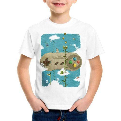 style3 Print-Shirt Kinder T-Shirt 16-Bit Nostalgie snes mario super kart 8-bit yoshi